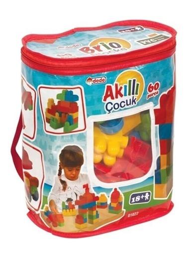 Dede Dede Akıllı Çocuk 60 Parça Eğitici Lego Yapboz Puzzle Oyuncak Renkli